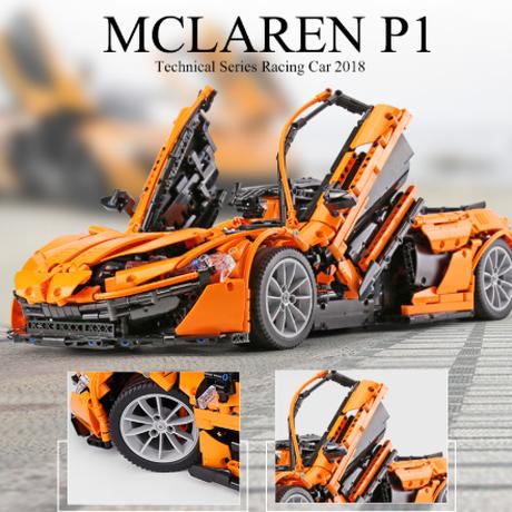 レゴテクニック 互換 マクラーレン P1 3725ピース LEGO互換品 オレンジ 車