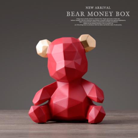 【くま】 貯金箱 インテリア コインボックス 子供部屋 プレゼント テディベア 置物 【オブジェ】
