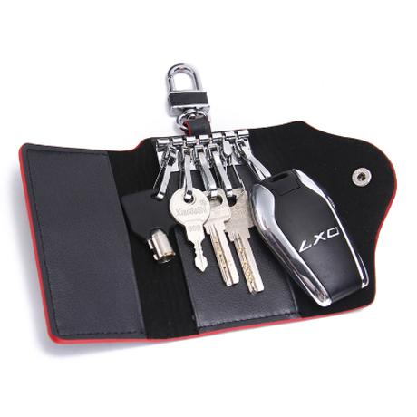 キーケース 車 鍵 スマートキー カード収納 キーホルダー 牛革 本革 フック6つ 頑丈 機能的 レディース メンズ ユニセックス コーヒー 黒 2色 プレゼントにもおすすめ