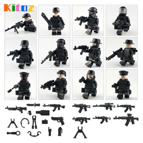 レゴ互換 特殊部隊 重装備 ミニフィグ 兵士 機関銃 武器 銃 ミリタリー ヘルメット