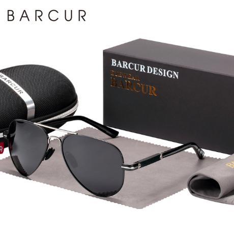 【人気のアビエータータイプ】 BARCUR 偏光サングラス メンズ UV400 釣り 運転用 ハイキングにも ポラロイド 海外トップブランド BC8721【選べる3色】