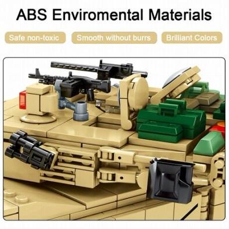 【レゴ互換】M1A2 エイブラムス 主力戦車 アメリカ軍 ミリタリー ブロックセット【LEGO風】