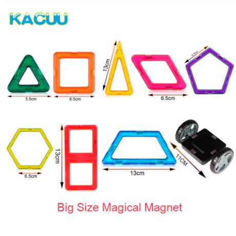 KACUU マグネットブロック 大きいサイズ おすすめ 作品 遊び方は無限大 磁石 磁気 磁力 おもちゃ 楽しみながら脳を刺激する効果★ 27ピース