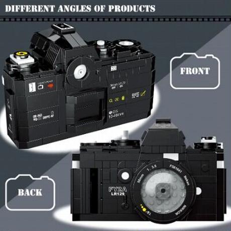 【レゴ互換】カメラ 黒 リアル ブロックセット 男の子【LEGO風】