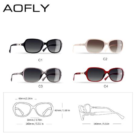 AOFLY 偏光サングラス レディース 人気 海外トップブランド UV400 軽量 スクエア 女性 かわいい 海外トップブランド 旅行 ドライブ 運転 釣り ビーチ 海 4色から選択可能