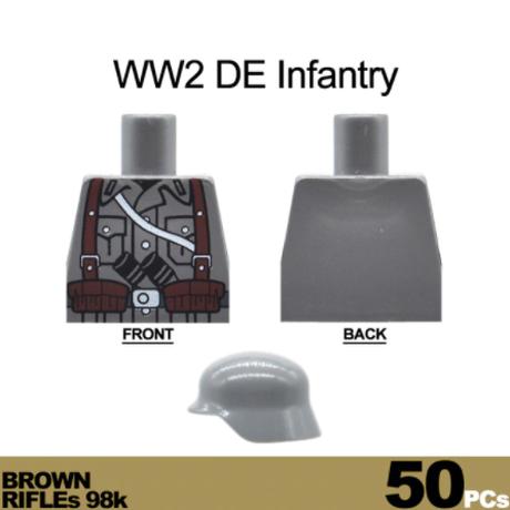 【レゴ】 ドイツ軍兵士 ミニフィグ50体+武器 大量セット 【レゴ互換】
