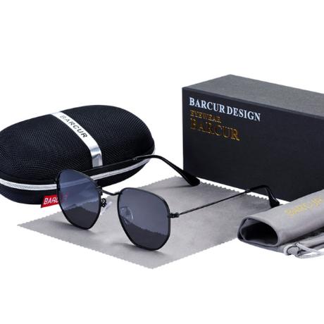 【レトロ】 BARCUR 六角形 メンズ サングラス UV400 偏光レンズ ポラロイド クラシック ドライブ 運転 旅行 釣り アウトドア ライブにも 海外トップブランド 高級 【選べる3色】