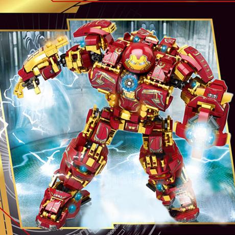 【レゴ互換】 ハルクバスター ブロックセット ミニフィグ6体付き アイアンマン マーベル アベンジャーズ レゴ風 1450ピース 【強くてカッコイイ】
