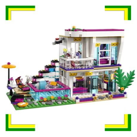 レゴ互換 フレンズ ポップスター リヴィのセレブハウス 41135 ブロックセット LEGO風 619ピース