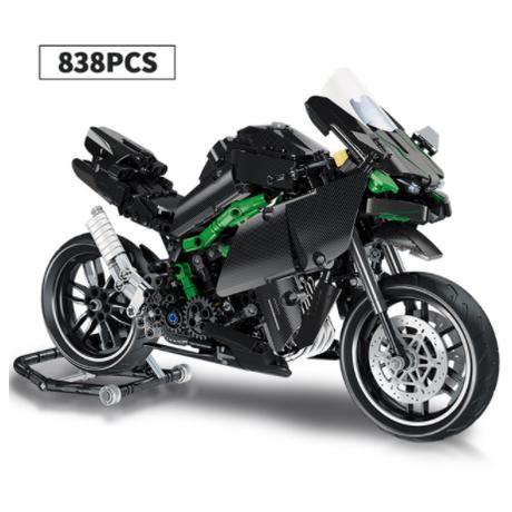 【レゴ互換】 オフロードバイク オートバイ 黒 レーシング テクニック ブロックセット 【男の子必見】