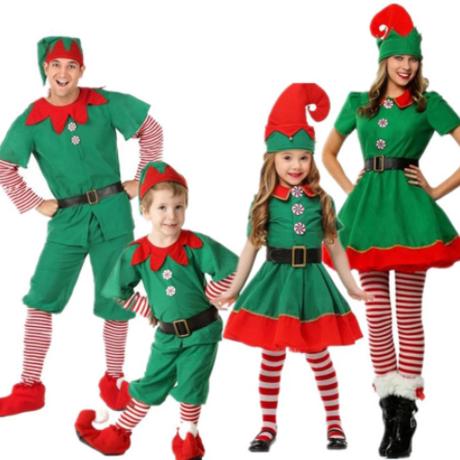 【クリスマス】 コスプレ 子供~大人 男の子&女の子 キッズ 【緑】