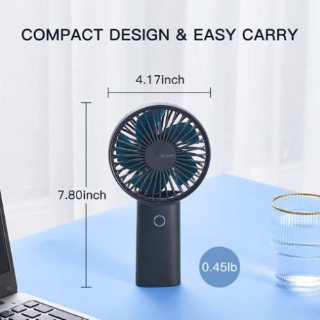 【ミニ扇風機】USB充電式 静音 携帯 ハンディーファン 小型【ポータブル】