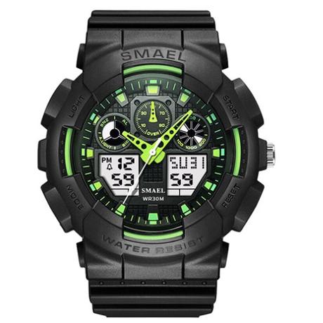 【渋い&スタイリッシュ】 SMAEL スポーツウォッチ LED デジタル メンズ 腕時計 防水 日付表示 高級 1027 【海外トップブランド】