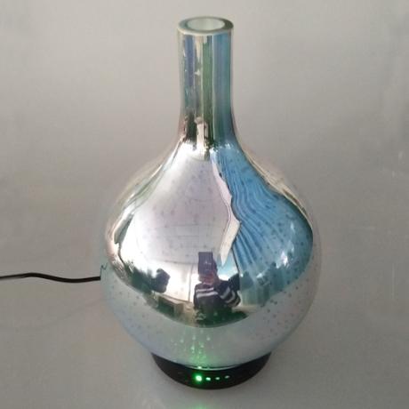 加湿器 超音波式 アロマ ディフューザー 100ml 壺型 LED 寝室 美容 ...