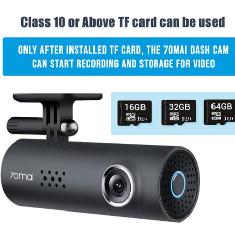 70mai ドライブレコーダー 1080p 130°広角 暗視機能 16GB SDカード Gセンサー ナイトビジョン 夜間 ボイスコントロール 高性能 ダッシュカム 音声 英語