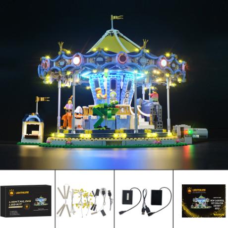 レゴ クリエイター メリーゴーランド カルーセル 10257 互換 [LED ライトキット+バッテリーボックス] ライトアップセット