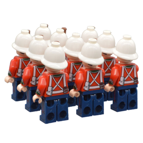 レゴ互換 ズールー戦争 イギリス兵 ミニフィグ20体 イギリス軍 特殊部隊 兵士 兵隊 軍隊 ミリタリー LEGO風 プレゼントにも