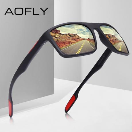 サングラス メンズ 人気 偏光レンズ AOFLY UV400 TR90フレーム 紫外線99%カット 軽量 高性能 スクエア クラシック 釣り 運転 登山 アウトドア おしゃれ かっこいい 選べる6色