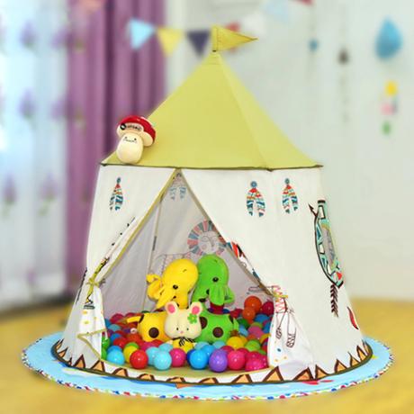 【テントハウス】 キッズテント 123×116cm 人気 折りたたみ ボールプール ボールハウス おしゃれ かわいい 【アウトドアにも】