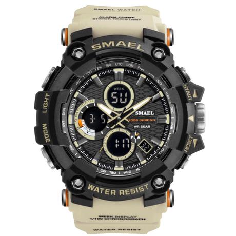 【人気】 SMAEL スポーツウォッチ メンズ 50m防水 ミリタリー 腕時計 クォーツ 衝撃に強い 海外トップブランド 高級 スタイリッシュ 【選べる3色】