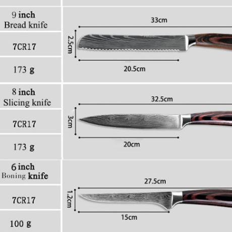 XITUO スライスナイフ 8インチ 高級 切れ味抜群 包丁 ローストビーフ ハムなどに よく切れる いいやつ プロ 業務用 家庭用 ダマスカスレーザー模様 海外ブランド 人気