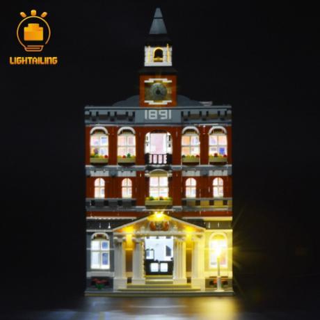 レゴ LEGO クリエイター 10224 タウンホール 互換 [LED ライトキット+バッテリーボックス] ライトアップセット