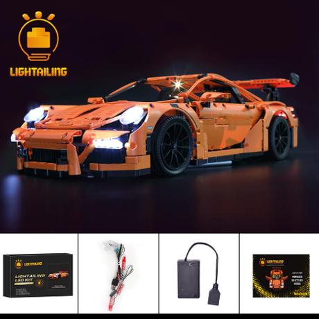レゴ テクニック 42056 ポルシェ 911 GT3 RS 互換 [LEDライトキット+バッテリーボックス] ライトアップセット