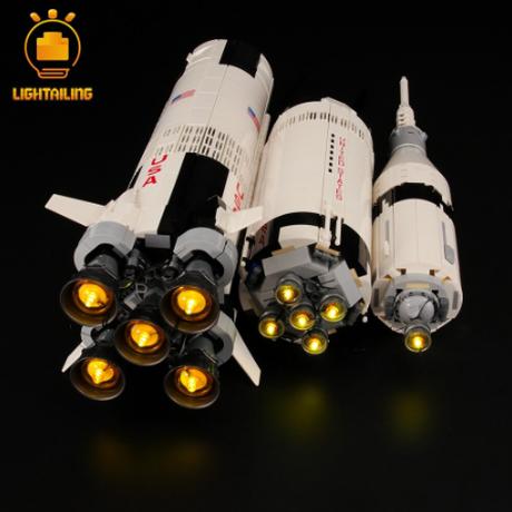 レゴ NASA アポロ計画 サターンV 21309 互換 [LED ライトキット+バッテリーボックス] ライトアップセット