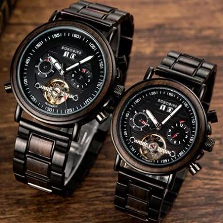 【BOBO BIRD】ペアウォッチ 機械式 自動巻き 腕時計 正規品 GT037 GT038【メンズ&レディース】