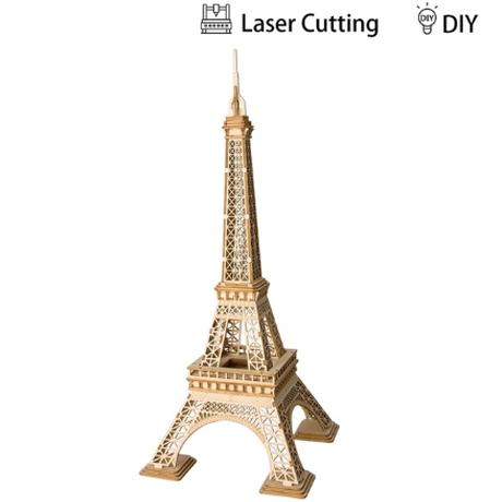 【ROBOTIME】 エッフェル塔 タワー 木製 3D立体パズル 高さ36cm ロボタイム パリ フランス DIY 木製プラモデル 自作 組み立てキット 【美しい】
