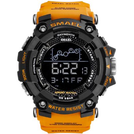 【SMAEL】 メンズ腕時計 5気圧防水 ミリタリー 高級 クォーツ 海外トップブランド スポーツウォッチ 1802 アーミーグリーン ブラック オレンジ 【選べる3色】