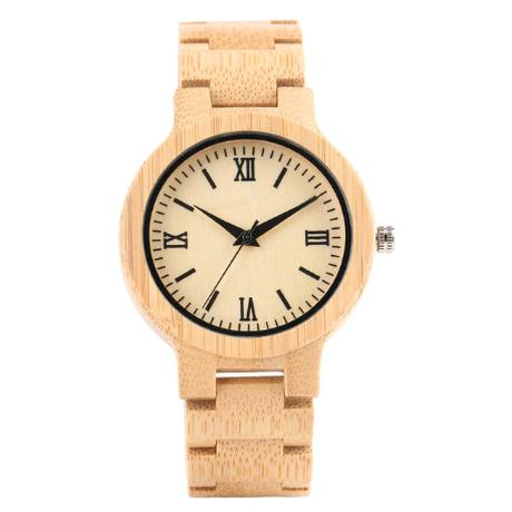 YISUYA バンブーウォッチ 竹 レディースウォッチ クォーツ式腕時計 木製腕時計 手作り