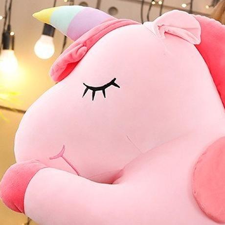 ユニコーン ぬいぐるみ 大きい 80cm ビッグサイズ 巨大 馬 抱き枕 人形 おもちゃ 人気 プレゼントにも