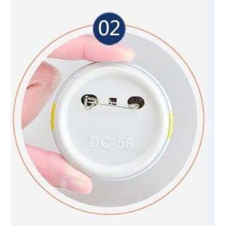 缶バッジマシーン用 58mm 素材 100個 セット パーツ 缶バッヂメーカー 自作 作成 バッチ ボタン プレス機 ハンドメイド 業務用 服 イベントなどにも