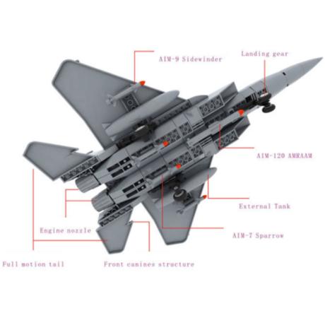 【レゴ互換】J-15 戦闘機 ミリタリー 軍用 飛行機【LEGO風】