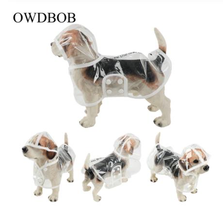 レインコート 犬用 ペット マント 雨 防水 犬の散歩 透明