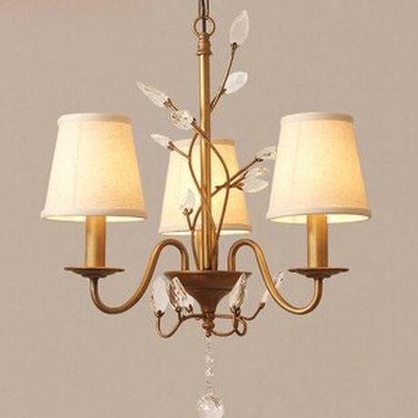 シャンデリア モダン ヨーロッパスタイル ビンテージ リビング 寝室 ベッドルーム LED 3ライト