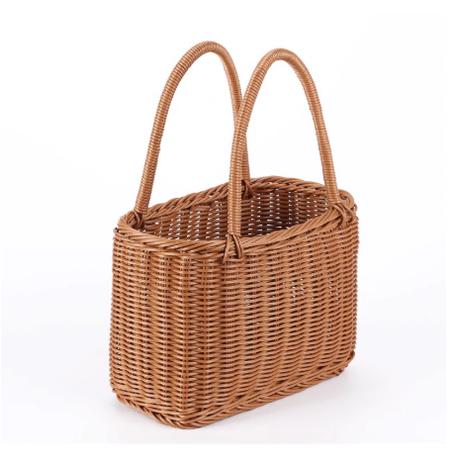 かごバッグ かわいい 軽い シンプル 魅力的な籐 使いやすい 軽量 ハンドメイド バスケット 暑い季節や夏の海にもおすすめ 大きいサイズ★