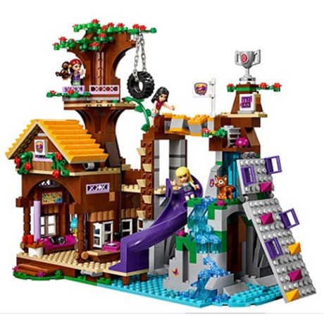 LEGO レゴ フレンズ 41122 アドベンチャーキャンプ ツリーハウス 互換品 ブロック ミニフィグ付き