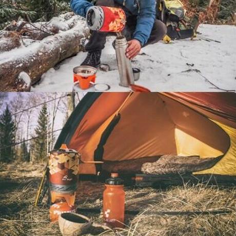【FIREMAPLE】バーナー ガス式 調理器具 ポット付き ストーブ キャンプ ポータブル【アウトドア】