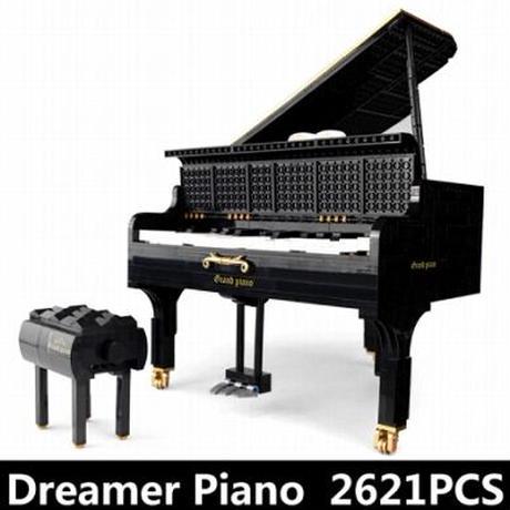 【レゴ互換】グランドピアノ 楽器 弾ける ブロックセット 知育玩具【LEGO風】