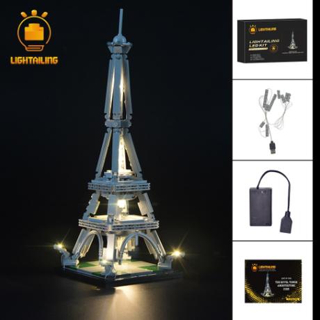 レゴ 21019 アーキテクチャー エッフェル塔 互換 LEDライトキット バッテリーボックス ライトアップセット