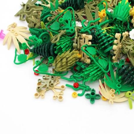 レゴ互換 植物 草 パーツ 100g 庭 ガーデン アクセサリー LEGO風 ブロックセット 知育玩具