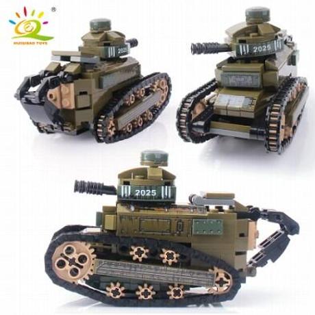 【レゴ互換】ルノー FT17 軽戦車 第一次世界大戦 フランス ミリタリー 戦争【LEGO風】