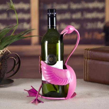 【Tooarts】フラミンゴ ワインホルダー 鮮やかピンク おしゃれ ラック 【インテリアにもオススメ】