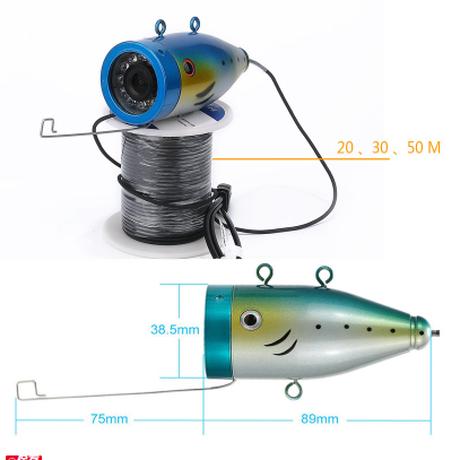 水中カメラ 釣りカメラセット 7インチモニター 15mケーブル GAMWATER 1000tvl アルミニウム合金 赤外線 LEDライト 12灯 映像が綺麗