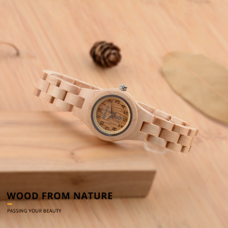 BEWELL 木製腕時計 ビーウェル レディース スリムウォッチ 女性 かわいい おしゃれ 木製ベルト 海外 高級ブランド スタイリッシュ 選べる5色
