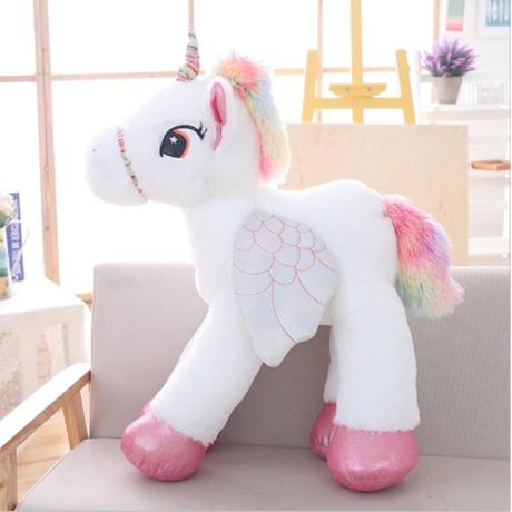 ユニコーン 巨大ぬいぐるみ  かわいい 激安 馬のおもちゃ 誕生日プレゼントにも 50cm 選べる3色