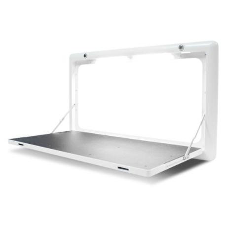 【折りたたみテーブル】LEDライト付き アウトドア キャンプ 【80×45cm】