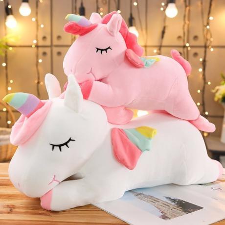 ユニコーン ぬいぐるみ 人気 おもちゃ 50cm 大きい 馬 グッズ かわいい ピンク 白 選べる2色